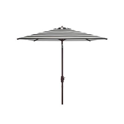 7.5' Square Iris Fashion Line Umbrella Black/White - Safavieh