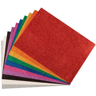WonderFoam Glitter Sheets, 8-1/4 x 11-7/10 Inches, Assorted Colors, set of 10