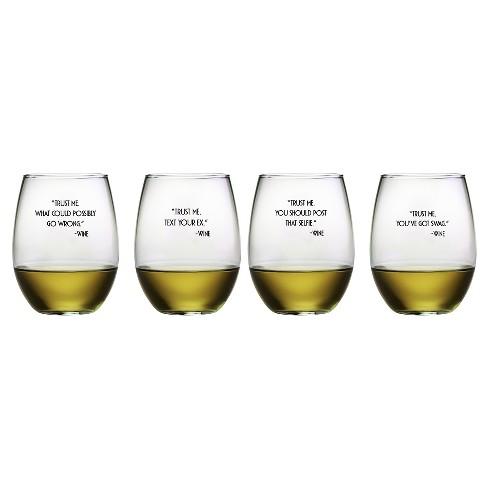 Susquehanna Glass Trust Me 21oz Stemless Wine Glasses - Set of 4 - image 1 of 1