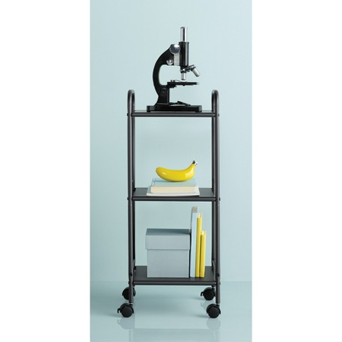 3 Shelf Utility Storage Cart Gray - Room Essentials™ - image 1 of 3