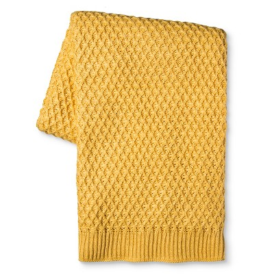 Yellow Sweater Knit Throw Blanket 50x60 Threshold Target