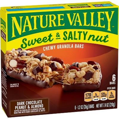 Nature Valley Sweet & Salty Dark Chocolate-Peanut & Almond Granola Bars - 6ct