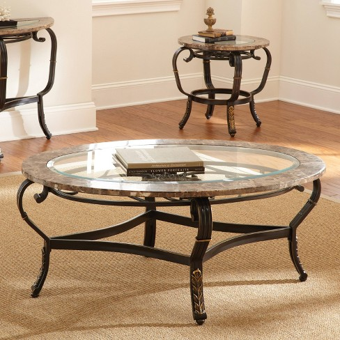 Marble And Silver Coffee Table.Gallinari Cocktail Table Marble Glass And Metal Steve Silver