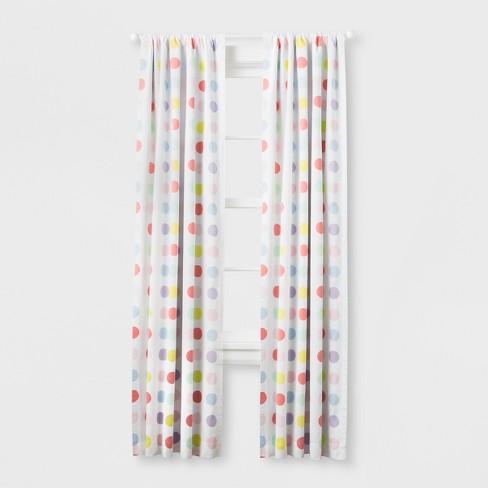 "Light Blocking Curtain Panel Bright Dots (84"") - Cloud Island™ Multicolored - image 1 of 1"