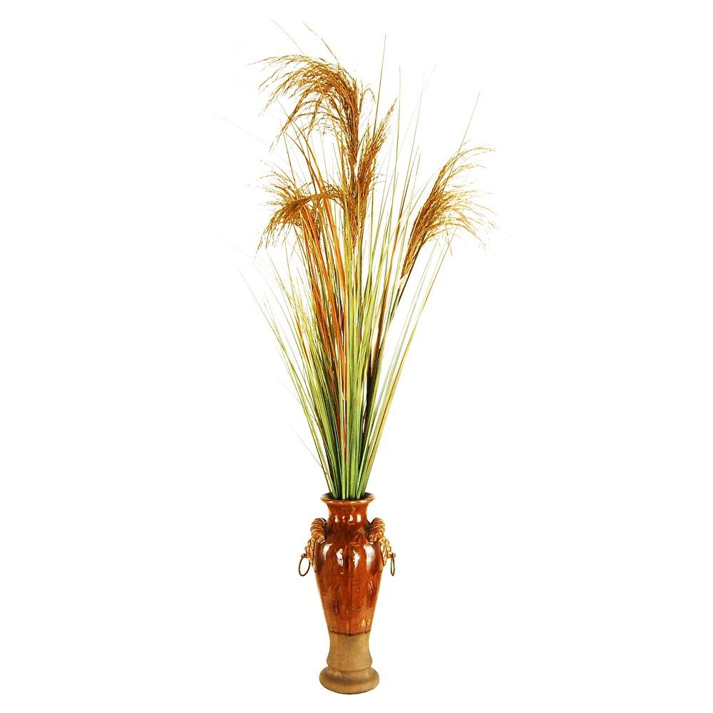 Artificial Grass Plant Green/Brown 46 - Lcg Florals