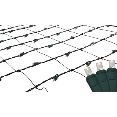 Northlight 150ct LED Wide Angle Christmas Net Lights Warm White - 24' Green Wire