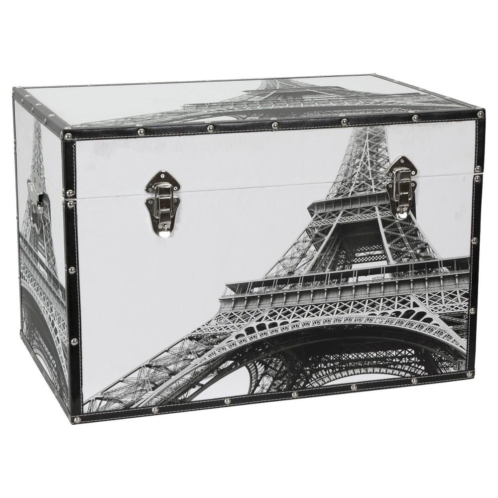 Eiffel Tower Trunk - Oriental Furniture, Gray