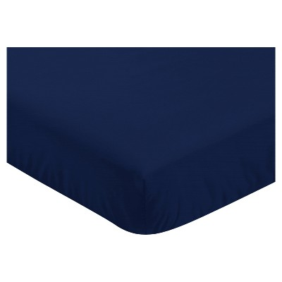Sweet Jojo Designs Fitted Crib Sheet - Blue & Green Mod Dino - Navy