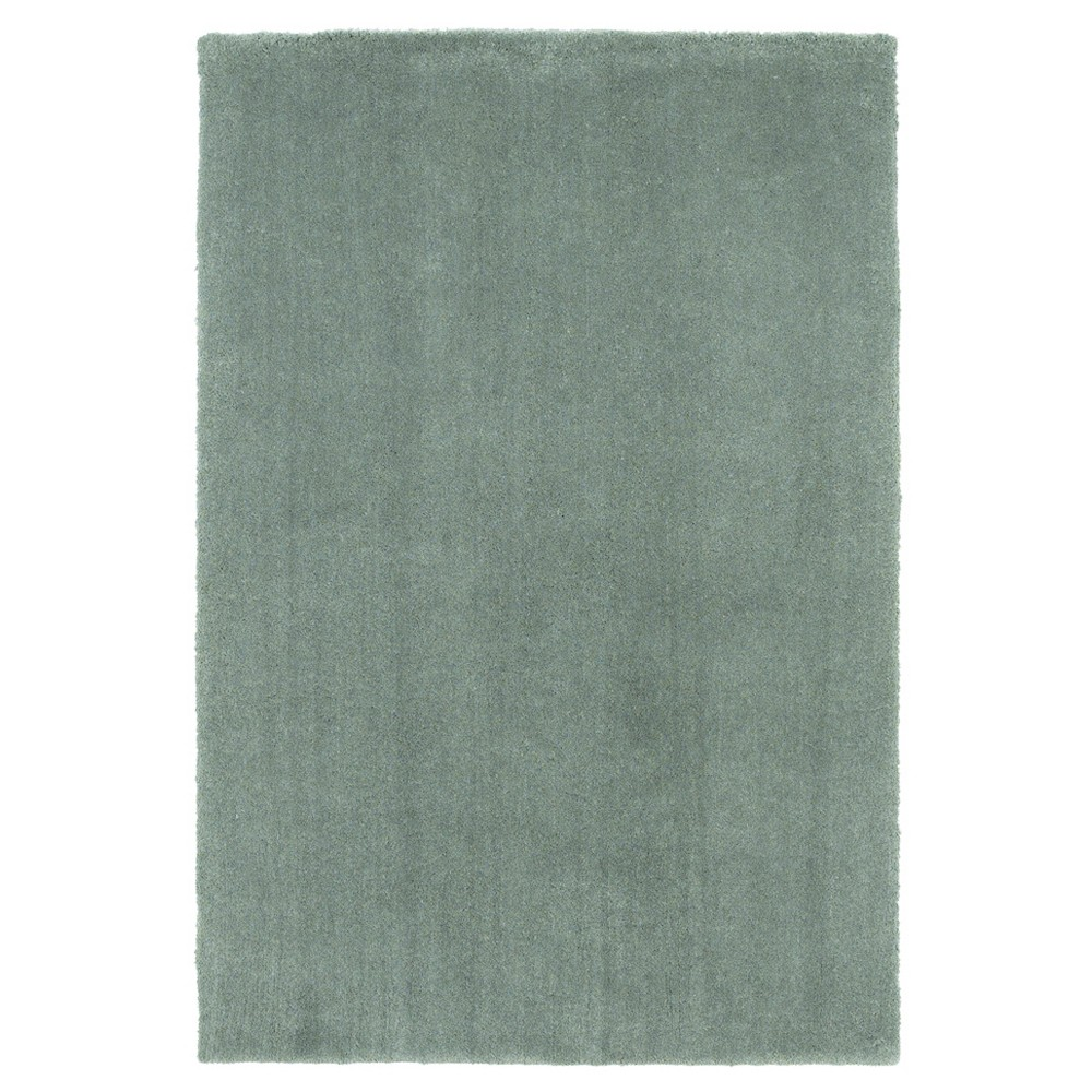Slate Solid Woven Area Rug 5'x7' - Kas Rugs, Gray