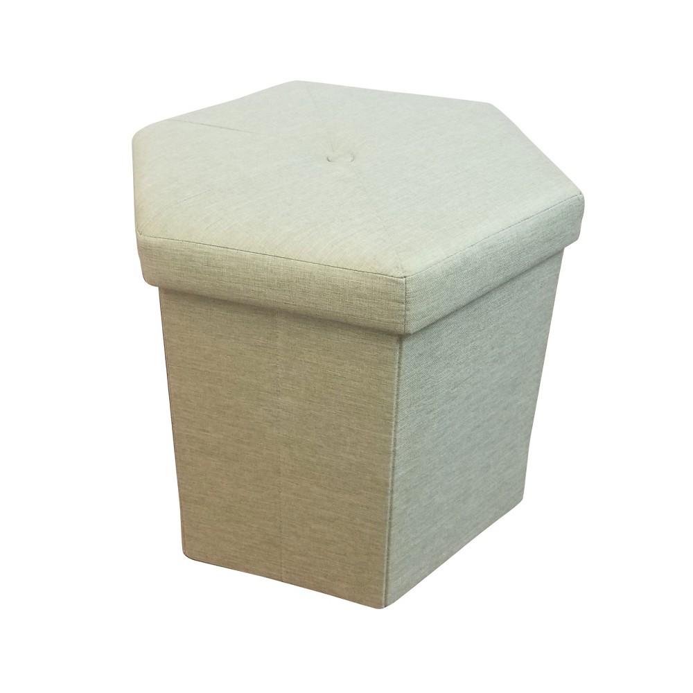 Best Buy Folding Storage Ottoman Green Home Source Industries