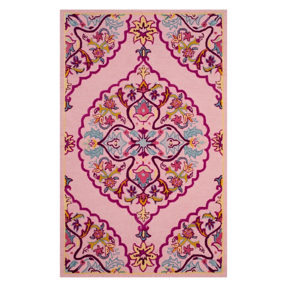 6'X9' Medallion Area Rug Pink - Safavieh, Pink/Multi-Colored