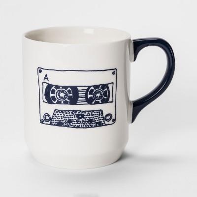 Cassette Tape Jumbo Mug 26oz Blue/White - Room Essentials™