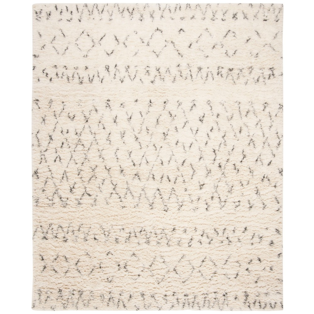 9'X12' Tribal Design Tufted Area Rug Ivory/Gray - Safavieh