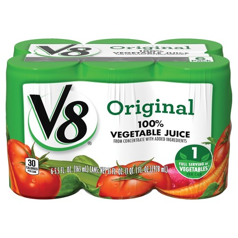 V8 Original 100% Vegetable Juice - 6pk/5.5 fl oz Cans - image 1 of 7