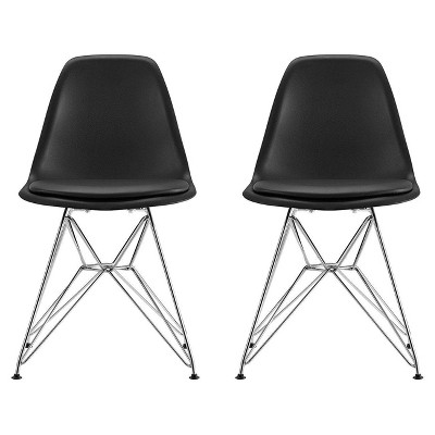 Genial Mid Century Modern Molded Chair With Upholstered Seat (Set Of 2)   Dorel  Home Products : Target