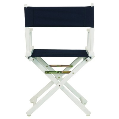 Director's Chair - White Frame, Blue Canvas, Blue Blue