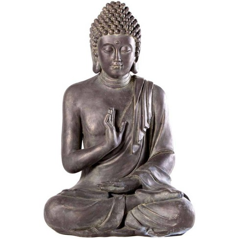 28 75 Indoor Outdoor Resin Thai Buddha Garden Statue Brown Alfresco Home Llc Target
