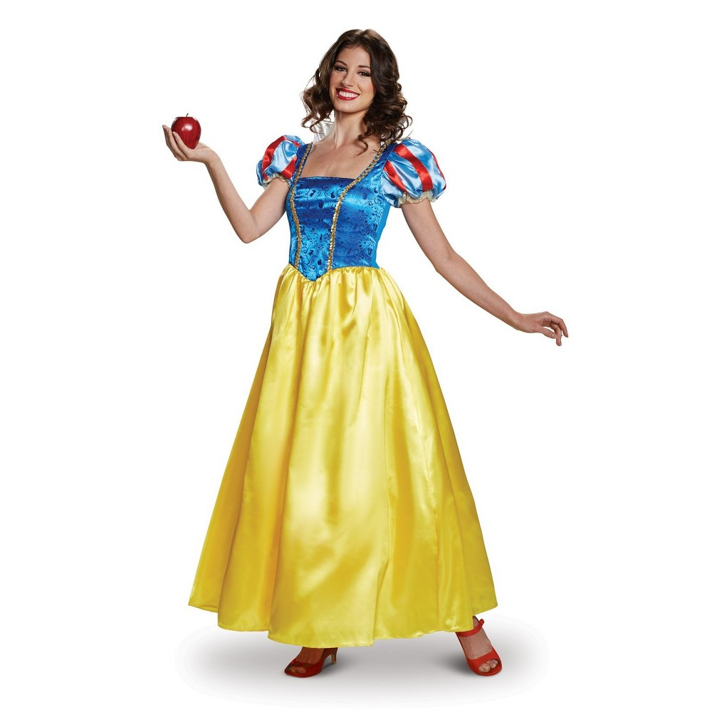 Disney Princess Women's Snow White Deluxe Halloween Costume M - Disguise, Multicolored