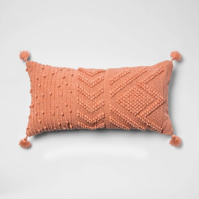 Oversize Embroidered Textured Lumbar Throw Pillow - Opalhouse™