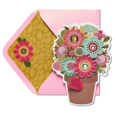 sc 1 st  Target & Papyrus Flower Pot Mother\u0027s Day Card With Gems : Target