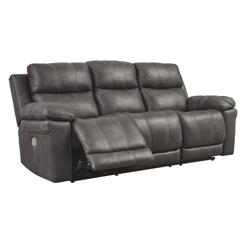 Erlangen Power Reclining Sofa with Adjustable Headrest Mid Gray - Signature  Design by Ashley