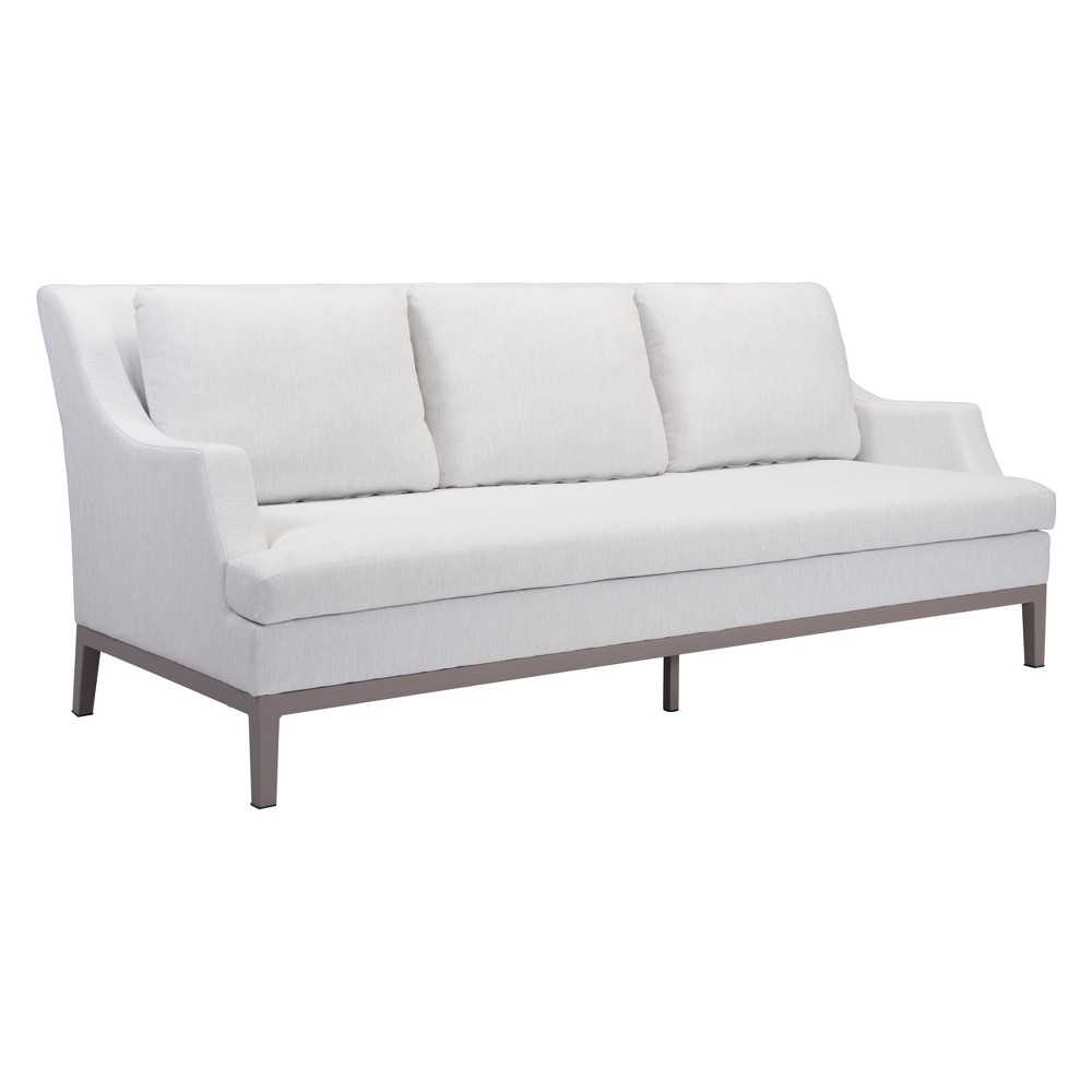 84 Regency Style Outdoor Sofa Champagne White - ZM Home
