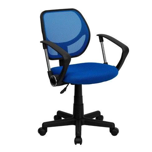Low Back Blue Mesh Swivel Task Chair with Arms - Flash Furniture - image 1 of 4