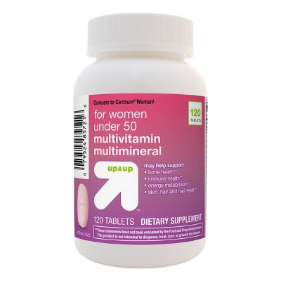 Women's Under 50 Multivitamin Dietary Supplement Tablets - 120ct - up & up™