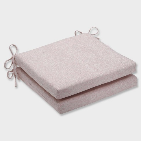 """20"""" x 20"""" x 3"""" 2pk Chartres Rose Squared Corners Outdoor Seat Cushions Pink - Pillow Perfect - image 1 of 1"""