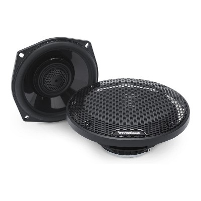 Rockford Fosgate TMS5 Power Harley Davidson 5.25 Inch Full Range Tour-Pak Motorcycle Speakers with Grilles