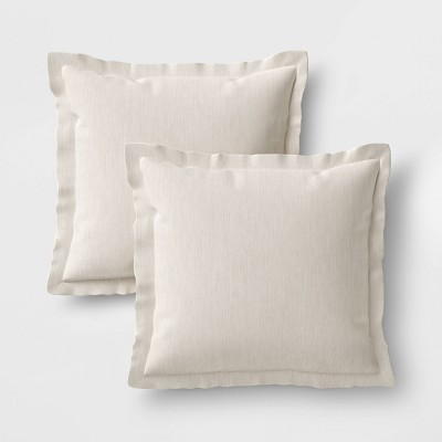 2pk Outdoor Pillow Set DuraSeason Fabric™ Linen - Threshold™