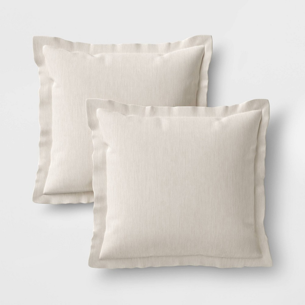 Image of 2pk Outdoor Pillow Set DuraSeason Fabric Linen - Threshold