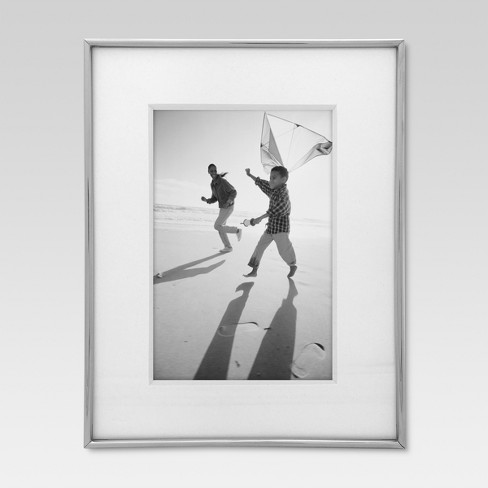 """4"""" x 6"""" Thin Profile Frame Silver - Threshold™ - image 1 of 4"""