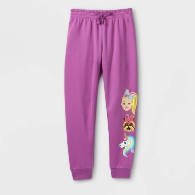 Girls' JoJo Siwa Jogger Pants - Purple