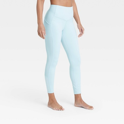 """Women's Contour Flex High-Waisted Ribbed 7/8 Leggings 24.5"""" - All in Motion™ - image 1 of 4"""