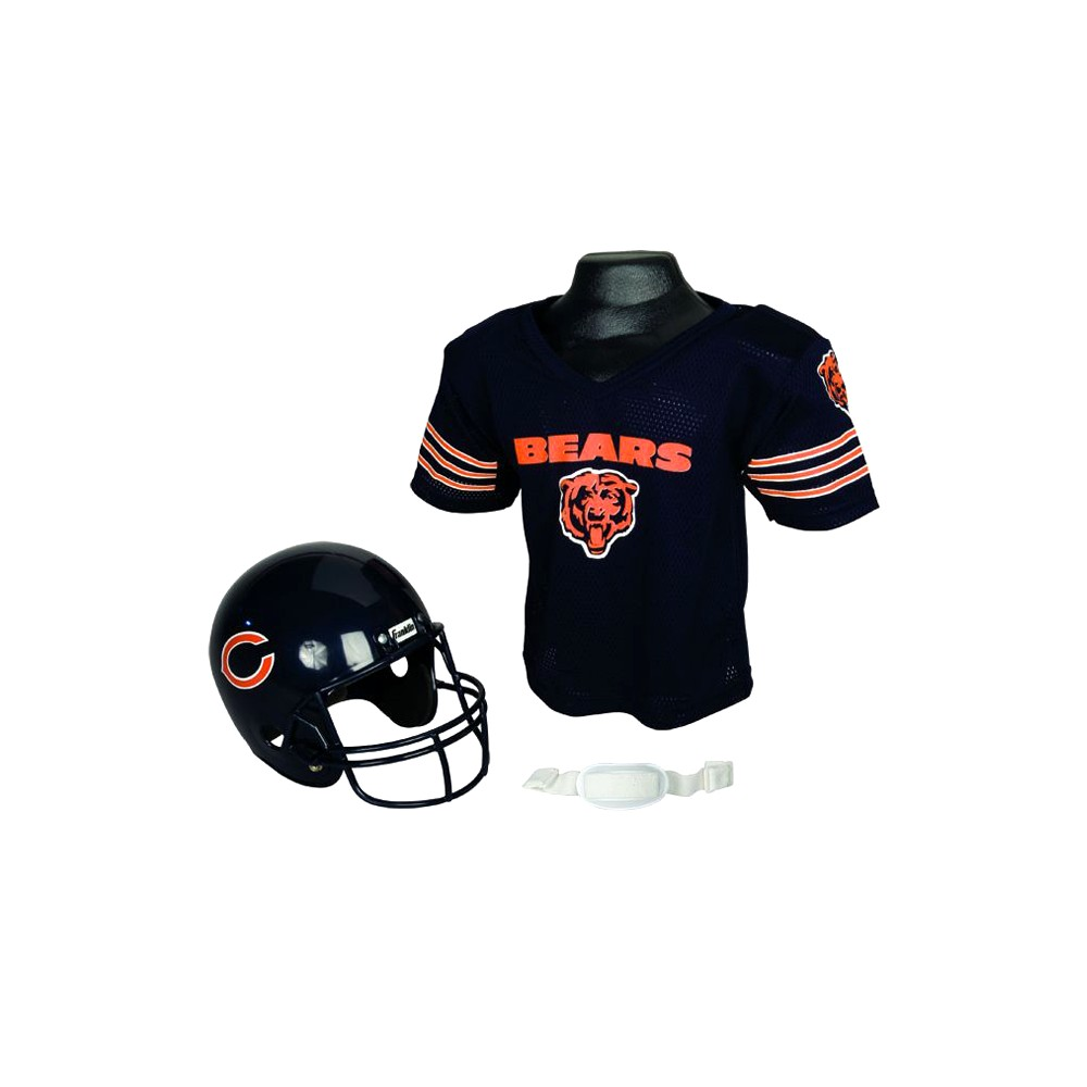 Franklin Sports NFL Team Helmet and Jersey Set - Ages 5-9 - Chicago Bears, Size: Medium