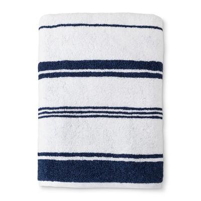 Performance Texture Bath Sheet Xavier Navy Stripe - Threshold™