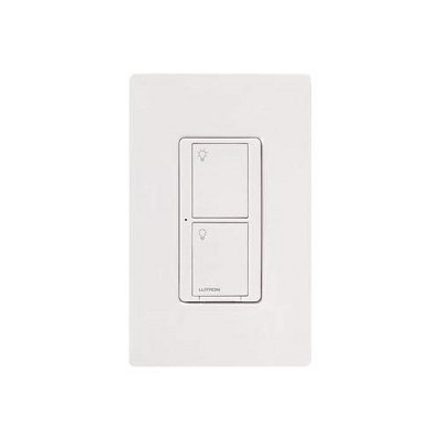 Lutron Caseta Wireless Smart Lighting Switch for All Bulb Types or Fans   PD-5ANS-WH-R   White.