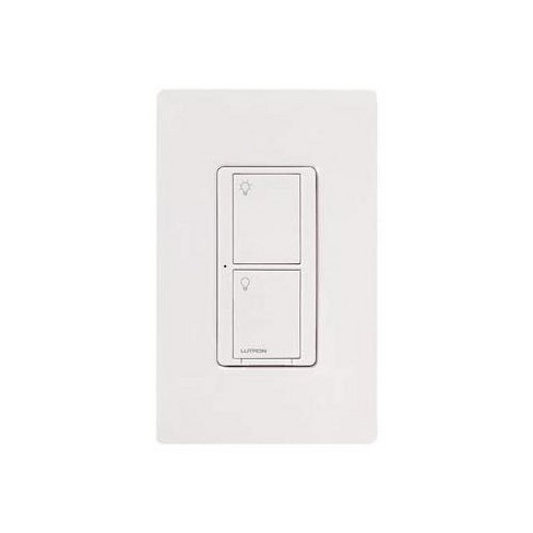 Lutron Caseta Wireless Smart Lighting Switch for All Bulb Types or Fans | PD-5ANS-WH-R | White. - image 1 of 4