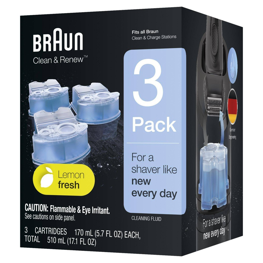 Image of Braun Clean & Renew Refill Cartridges for Clean & Charge Systems CCR - 3pk
