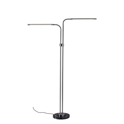 "54.5"" x 72.5"" Hydra Floor Lamp (Includes LED Light Bulb) Silver - Adesso"