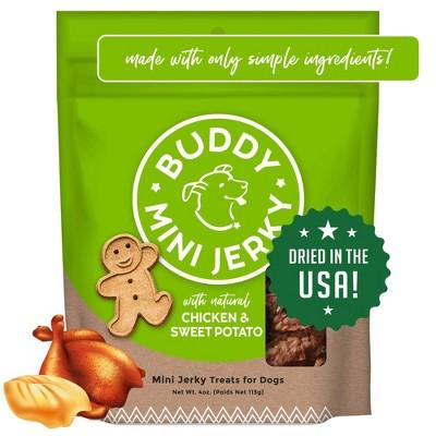 Buddy Biscuits Mini Jerky Chicken & Sweet Potato Dog Treats - 4oz