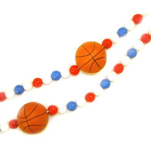 Kurt S. Adler 6' Red And Blue Beaded Basketball Christmas Garland - image 1 of 1