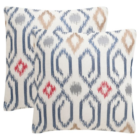 Navy Ashton S/2 Throw Pillow - Safavieh® - image 1 of 3