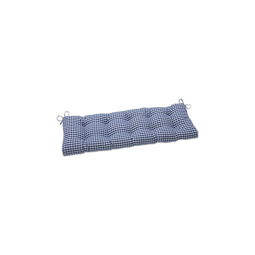 52 34 X 18 34 Outdoor Indoor Tufted Bench Swing Cushion Dawson Lapis Blue Pillow Perfect