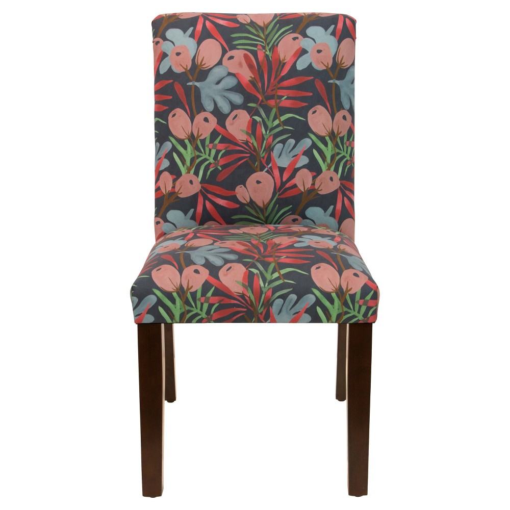 Hendrix Dining Chair with Espresso Legs Dark Floral - Cloth & Co.