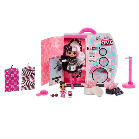 L.O.L. Surprise! O.M.G. Winter Disco Dollie Fashion Doll & Sister image number null