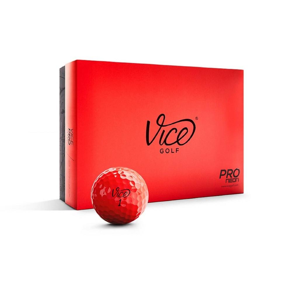 Vice Pro Golf Balls - Neon Red