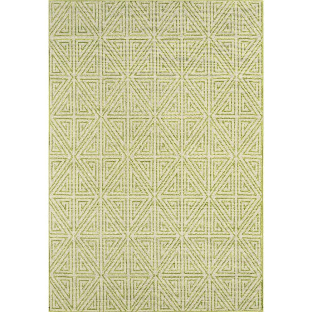 Indoor/Outdoor Diamond Area Rug - Green (5'x8')