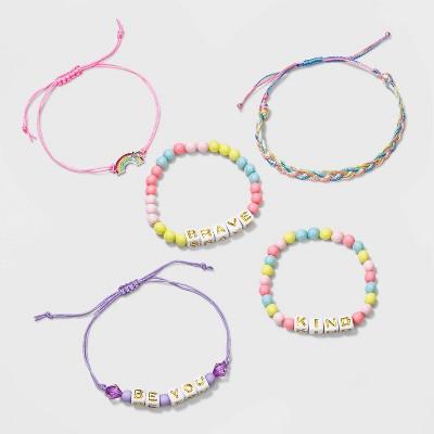 Girls' 5pk Mixed Bracelet Set - Cat & Jack™
